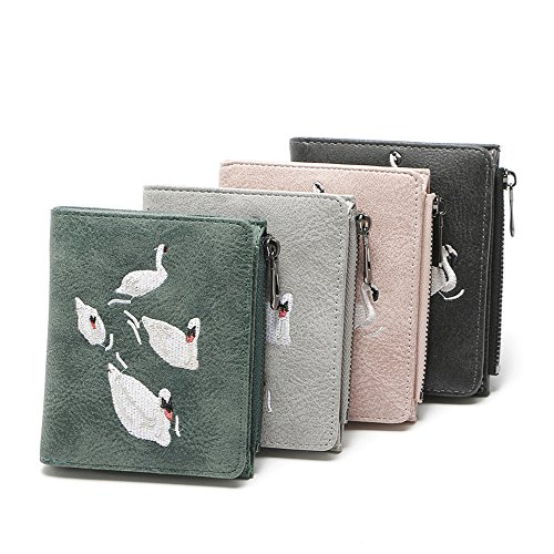 Color Cartes pour Porte Zero Cluth Zipper Purse Monnaie Femme Lovely rabbit Black Gray Porte xCBwqPEqpc