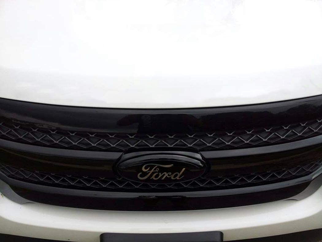 Black Shenwinfy 7 Inch Front Grille Tailgate Emblem for Ford 3D Oval Adhesive Badge for Ford Escape Excursion Expedition Ranger Freestyle Freestyle Five Hundred F-150 F-250 F350 F450 F550