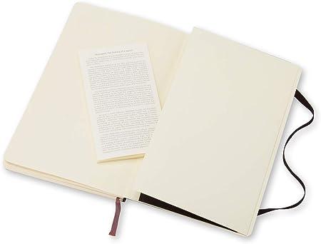 Moleskine Couleur Noir Journal Couverture Rigide et Fermeture par Elastique Taille Format de Poche 9 x 14 cm 192 Pages Carnet de Notes Classique Papier Quadrill/é
