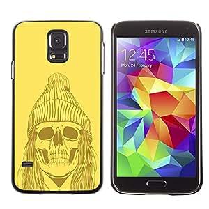 Be Good Phone Accessory // Dura Cáscara cubierta Protectora Caso Carcasa Funda de Protección para Samsung Galaxy S5 SM-G900 // Funny Hipster Skull Skeleton
