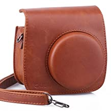 CAIUL Vintga Camera Case Bag For Fujifilm Instax Mini 8 Case (PU Leather), Brown