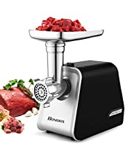 Electric Meat Grinder 2000W, Sausage Grinder with 3 Grinding Plates and Sausage Stuffing Tubes for Home Use &Commercial, Stainless Steel