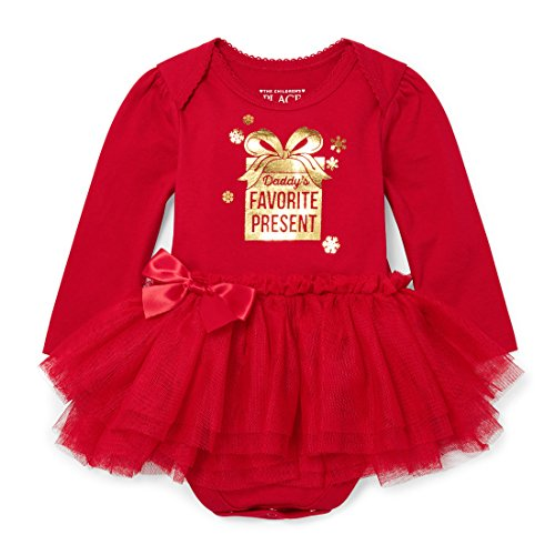 The Children's Place Baby Girls' Long Sleeve Dressy Dresses, Ruby 90532, 12-18MOS