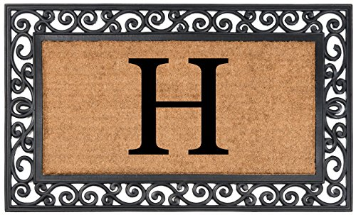 Monogrammed Items - Nance Industries YourOwn Monogrammed Rubber Welcome Mat, 24