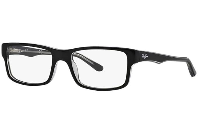 a252db27ac1 Amazon.com  Ray-Ban Men s RX5245 Eyeglasses Top Black On Transparent ...