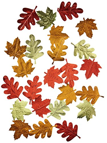 Colors of Fall Thanksgiving Party Autumn Leaves String Decoration, Foil, 7' Pack of (Fall Classroom Decorations)
