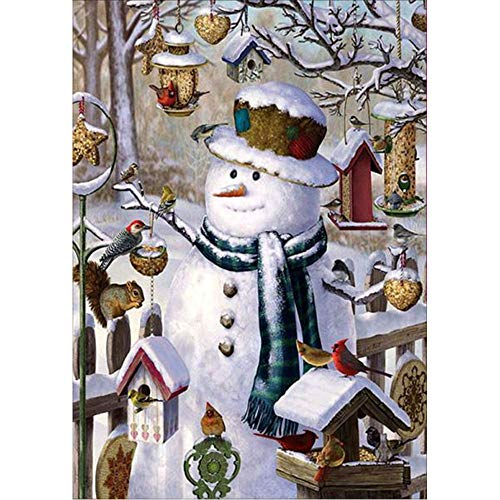 5D Diamond Painting Rhinestone Fairy Tale World Snowman Bird's Nest Embroidery Wallpaper DIY Wall Sticker by Number Kits Full Drill Kits Full Drill Cross Stitch Arts 30X40cm