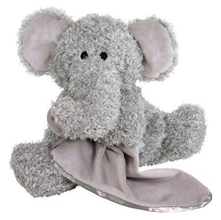 Stephan Baby Super Soft Plush Blankie Buddy Security Blanket, Grey Elephant