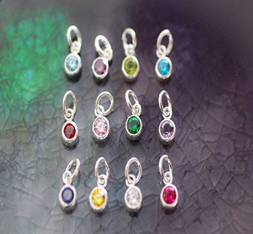 Peppers Gems (Birthstone Gemstone - Crystal Gemstone Charm - Birthstone Charm - Sterling Silver Birthstone - Birthstone - Birthstone Jewelry - Mom Gift)