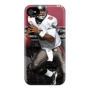 Durable Hard Cell-phone Case For Iphone 4/4s With Support Your Personal Customized Realistic Tampa Bay Buccaneers Skin LauraAdamicska
