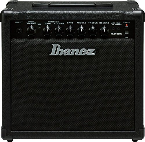 (Ibanez Electric Guitar Mini Amplifier, Black (IBZ15GR) )