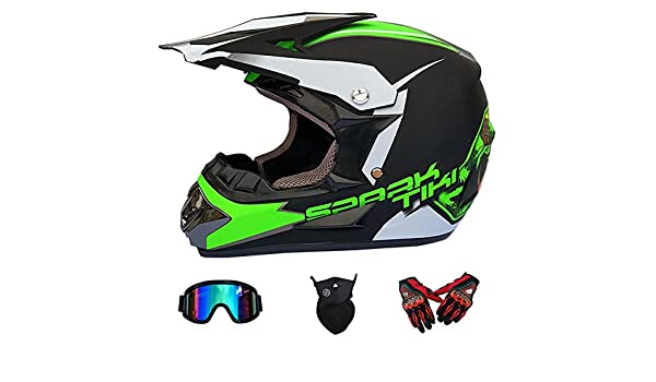 JHL Motocross Adulto Casco MX Motocicleta Scooter Casco ATV ...