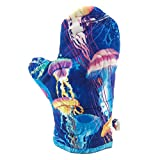 Colorful Jellyfish Oven Mitt, Cotton Fabric Oven Mitt - Blue Insulated Pot Holder