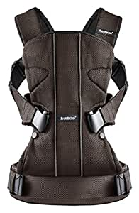 Baby Carrier One - Brown/Black, Mesh