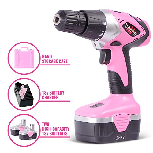 Pink Drill Electric Screwdriver PP1848K Cordless Drill and