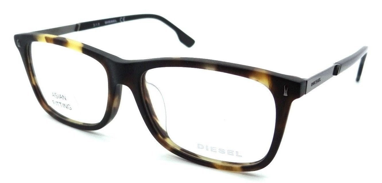 Diesel Rx Eyeglasses Frames DL5199-F 055 56-15-145 Matte Dark Havana Asian Fit