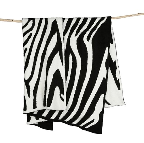 Blanket Receiving Zebra Print - Barefoot Dreams CozyChic Barefoot In The Wild Receiving Blanket