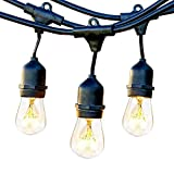 ECOWHO Outdoor String Lights, 30ft Waterproof LED Patio String Lights with Hanging E26 Sockets for Yard Bistro Pergola Wedding Gathering Party (UL Approved, Bulbs are not Included)