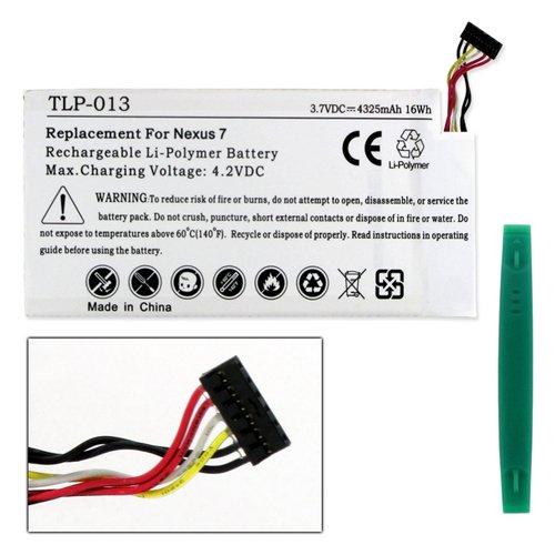 Tablet Battery Compatible with Google C11-ME370T Tablet Battery TLP-013 Li-Pol Battery - Rechargeable Ultra High Capacity (Li-Pol 3.7V 4325 mAh)