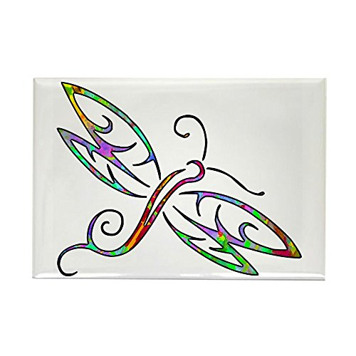 CafePress Colorful Dragonfly Magnets Rectangle Magnet, 2