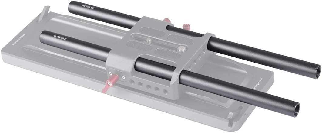 Camera Accessory 2 PCS Diameter 15mm Length 200mm Aluminum Alloy Rods for 15mm Rod Rail Support System