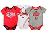 "Cincinnati Reds Baby / Infant ""Three Strikes"" 3 Piece Creeper Set"