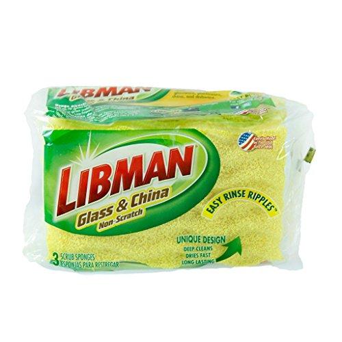 Libman 01075 Scrub Sponge Light Duty 3 Pack