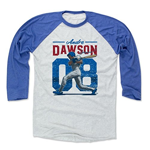 500 LEVEL Andre Dawson Baseball Shirt XX-Large Royal/Ash - Vintage Chicago Baseball Fan Apparel - Andre Dawson Vintage B