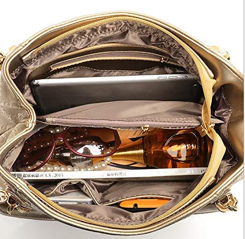 Centrale Sacoche Gold bandoulière à en croisés Mode LIGYM Cuir Tout La Sacs d'unité fourre bandoulière à Sacs PU wP10xR
