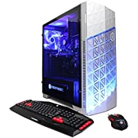 CYBERPOWERPC Gamer Ultra GUA882 Desktop Gaming PC (AMD FX-4300 3.8GHz, AMD R7 240 2GB, 8GB DDR3 RAM, 1TB 7200RPM HDD, Win 10 Home), White