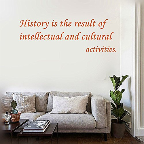 Cultural Activities (History is the result of intellectual and cultural activities. Wall Decal Stickers Quotes saying and words DIY Home Decor Vinyl Wall Murals Art Decor Room Home Decoration Size: 12''x 39'')