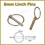 8mm Linch Pins Length 40mm Ring 45mm Zinc Coated For Corrosion Protection Lynch Fastener Tractor Trailer Plant Agricultural Machinery by linchpin