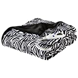zebra heated blanket - Biddeford Heated Microplush Throw, 50 by 62-Inch, Zebra