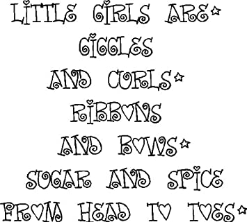 Amazoncom Little Girls Are Giggles And Curlsgirls Room Wall