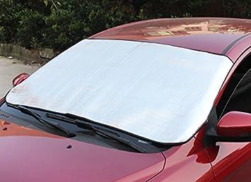 BARGAINS-GALORE CAR WINDSCREEN FRONT VISOR HEAT COVER FOLDABLE REFLECTIVE SUNSHADE UNIVERSAL