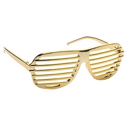 9a6de38a51d P Prettyia Funny Golden Shutter Shades Shaped Sunglasses Party Photo Props  for Kids Adults
