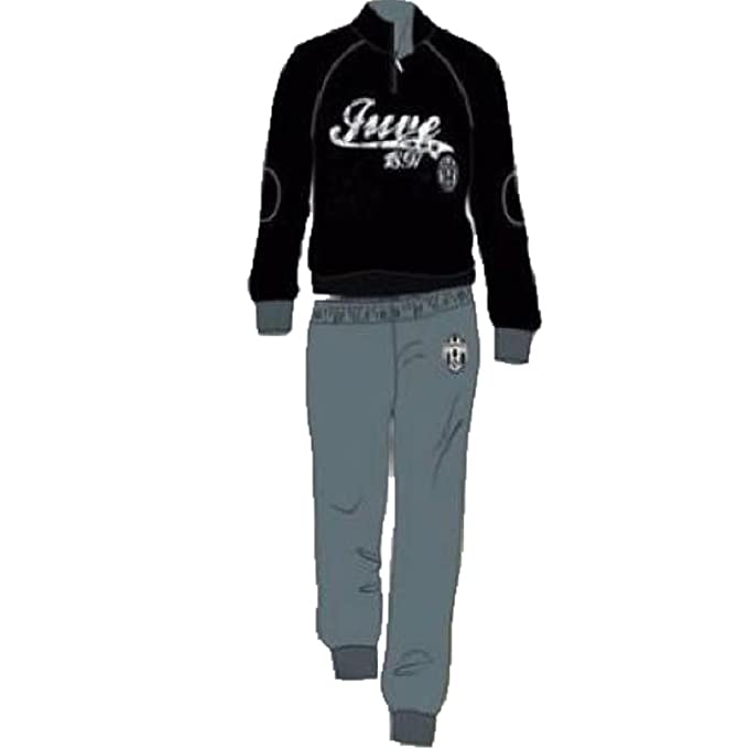 9e8c283659877d Pigiama con zip Uomo Juve Abbigliamento Ufficiale Juventus *22558- Nero M