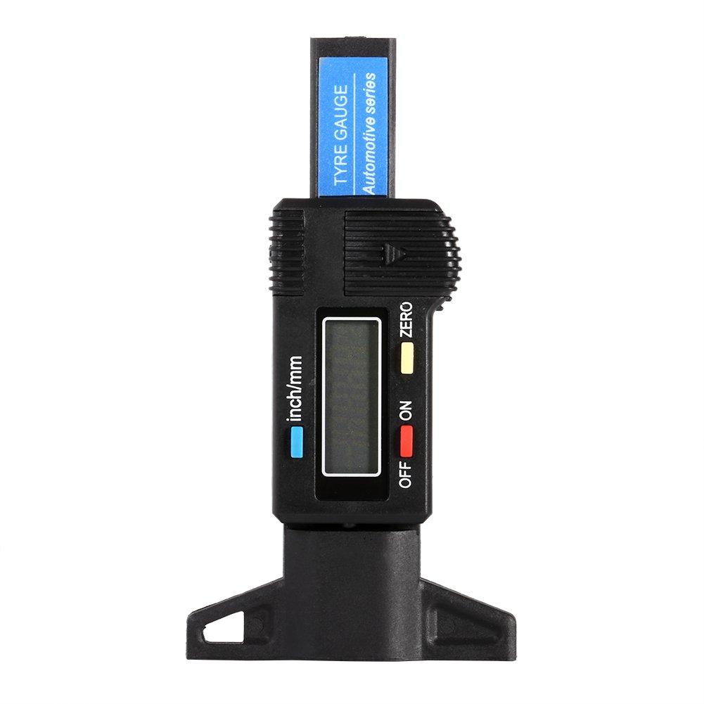 0-25.4mm Digitahi LCD Misuratore di profondità del pneumatico del gancio per il camion moto dell'automobile VGEBY