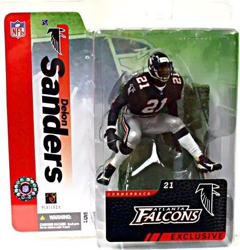 Mcfarlane Nfl Sports Picks - McFarlane Toys NFL Sports Picks Collectors Club Exclusive Action Figure Deion Sanders (Atlanta Falcons) Black Jersey