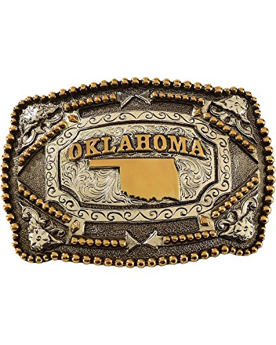 [Cody James Men's Oklahoma Belt Buckle Multi One Size] (Cody Buckle)