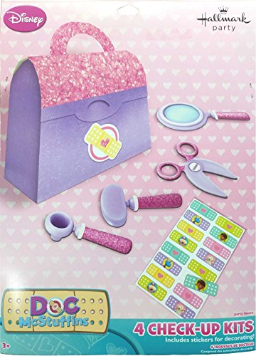 Doctor Mcstuffin Party Supplies (Hallmark Doc McStuffins Check Up Kits Favor Pack)