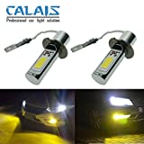 Calais Extremely Bright Golden Color COB Chips H3 30W 1200LM LED Fog Light Bulbs Plug-n-Play(pack of 2)