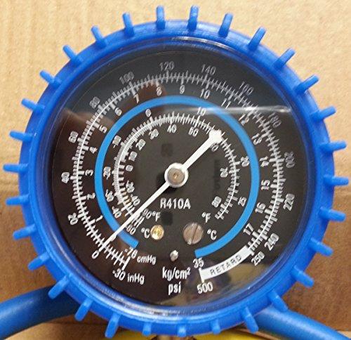 [해외]미니 스플릿 시스템 저 측면 충전 매니 폴드, 압력 게이지, 호스 세트./Mini Split System Low Side Charging Manifold, Pressure Gauge, Hose Set.