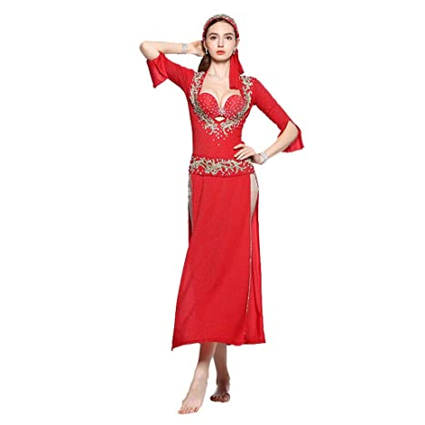 Amazon.com: TODO Belly Dance Robe Baladi Costumes Cane Dance ...