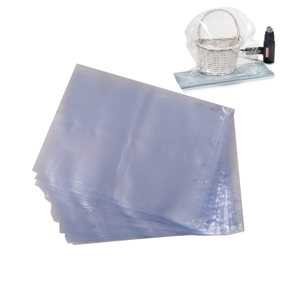 LazyMe Basket Cellophane Shrink Bags, 24x30 inch, Shrink Wrap Bags Large, Clear, 20 Packs  Shrink Wrap Bags Large ShrinBag24x30-20