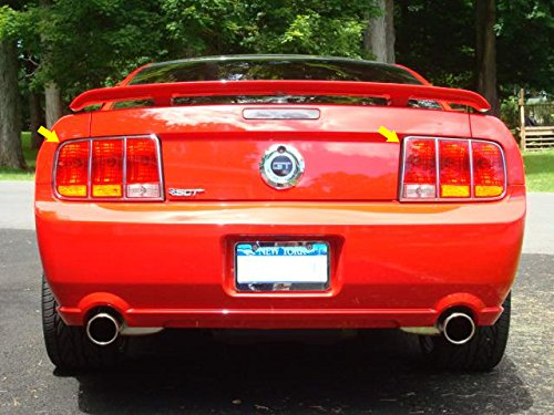 """QAA FITS MUSTANG 2005-2006 FORD (2 Pc: Stainless Steel Taillight Ring Accent Trim - 8.625"""" wide"""