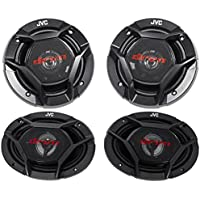 (2) JVC CS-DR620 6.5 300w Car Audio Speakers+(2) CS-DR6930 6x9 1000w Speakers