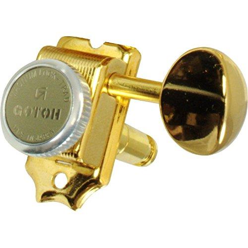 (Tuner - Gotoh, Magnum Lock Trad, Finger Lock, 6-in-line, Color: Gold)