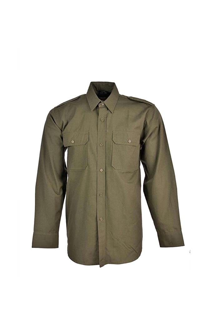 100% Cotton Ripstop Field Shirt in Black, Olive Green, Navy Blue, Woodland Camo or ACU Digital Camo Mil-Tec