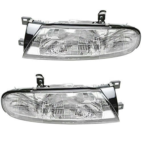 Headlight Headlamp Pair For Nissan Altima XE & GXE 93-97 (Xe Headlight Altima Gxe Headlamp)